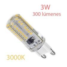 Lámpara G9 bi-pin regulable de LED luz cálida 3w