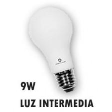 Bombilla standard de LED 9W luz natural E27