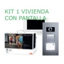 Kit videoportero Niessen Welcome 1 vivienda monitor táctil en color