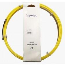 Guía pasacables nylón 4mm Newlec 5m HFT5N4