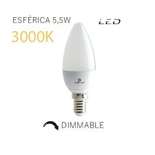Bombilla de LED vela mate regulable 3000k