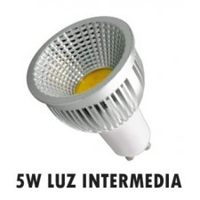 Bombilla GU10 LED 5W 90º COB luz intermedia