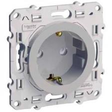 Base de enchufe 2P TTL tornillos S530037 odace schneider plata