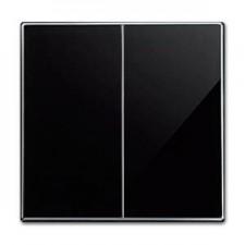 Tecla doble interruptor conmutador 8511cn cristal negro niessen sky