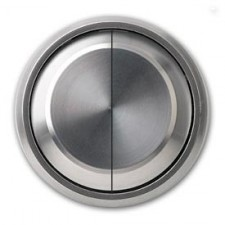 Tecla doble interruptor conmutador 8611 cr cromo niessen