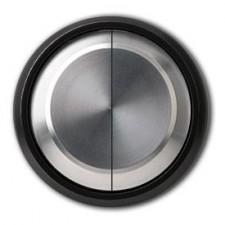 Tecla doble interruptor conmutador 8611 cn cristal negro niessen