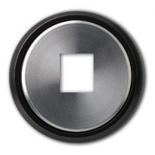 Tapa conector RJ 8618.1 cn cristal negro skymoon niessen