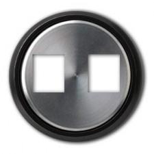 Tapa conector doble RJ 8618.2 cn cristal negro skymoon niessen