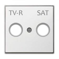 Tapa toma televisión 8550.1 bl blanco soft niessen sky