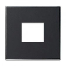 Tapa toma cargador USB 8585 ns negro soft inoxidable sky niessen