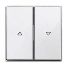Tecla doble interruptor pulsador persianas 8544 cb cristal blanco sky niessen