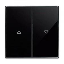 Tecla doble interruptor pulsador persianas 8544 cn cristal negro sky niessen