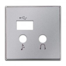 Tapa módulo USB bluetooth 8568.3 pl plata niessen sky