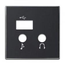 Tapa módulo USB bluetooth 8568.3 ns negro soft Sky Niessen