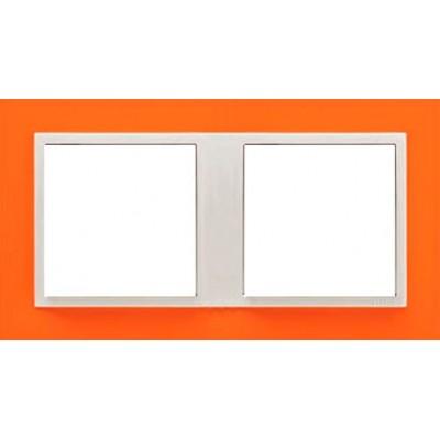 Marco doble mecanismos Efapel 90920t jg Logus 90 animato naranja precio