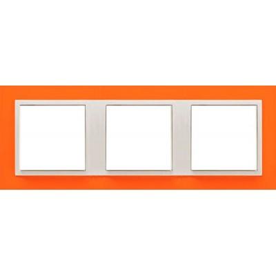 Marco triple mecanismos Efapel 90930t jg Logus 90 animato naranja precio