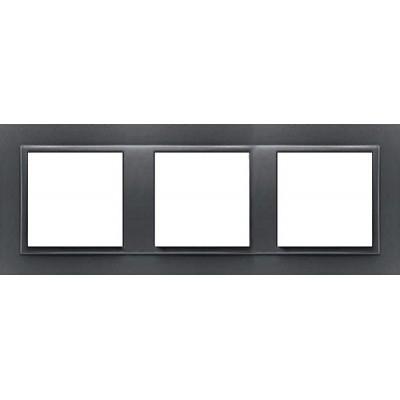 Marco triple mecanismos Efapel 90930t ss Logus 90 animato gris precio