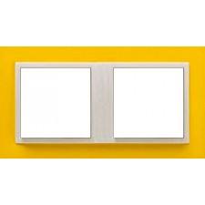 Marco doble mecanismos Efapel 90920t rg Logus 90 animato amarillo