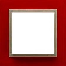 Marco simple mecanismos Efapel 90910t vg Logus 90 animato rojo