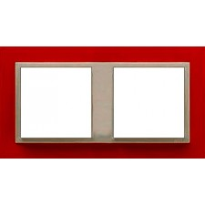 Marco doble mecanismos Efapel 90920t vg Logus 90 animato rojo