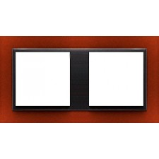 Marco doble Efapel 90920t ts animato anaranjado intenso gris
