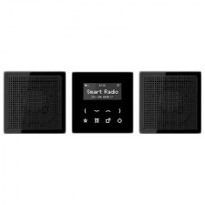 Kit Smart Radio estéreo color negro RAD LS 928 SW serie LS de Jung