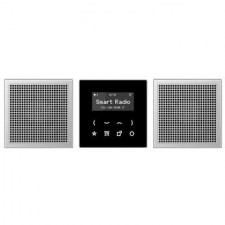 Kit Smart Radio estéreo color negro/aluminio RAD AL 2928 LS Jung