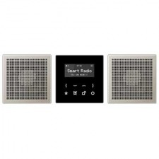 Kit Smart Radio estéreo color negro acero RAD ES 2928 LS de Jung