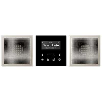 Kit Smart Radio estéreo color negro aluminio RAD AL 2928 LS de Jung