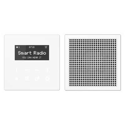 Kit Smart Radio mono color blanco RAD LS 918 WW serie LS de Jung