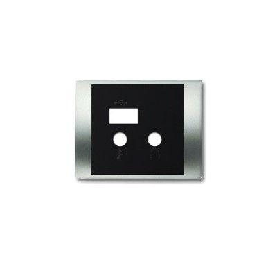 Tapa módulo USB bluetooth 8468.3 TT titanio serie olas niessen