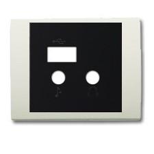 Tapa módulo USB bluetooth 8468.3 BL blanco jamín olas niessen