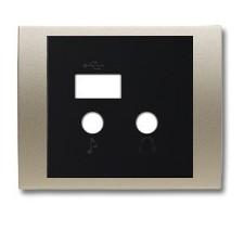 Tapa módulo USB bluetooth 8468.3 CS cobre satén olas niessen