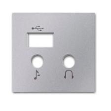 Tapa módulo entrada salida USB n2268.3 pl Plata niessen zenit