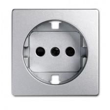 Tapa base enchufe schuko simon 82041-93 aluminio frio