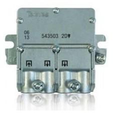 Repartidor distribuidor 2 salidas 4,3/4dB EasyF 543503 Televes