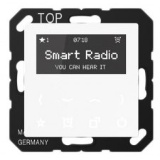 Smart Radio color blanco RAD A 508 WW serie AS de Jung