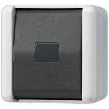 Pulsador estanco con tecla 831W WG 800 Jung
