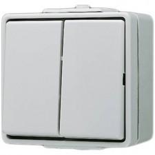 Doble interruptor estanco con tecla 605 W WG 600 Jung