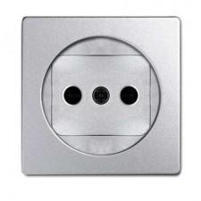 Tapa enchufe sin toma tierra aluminio frio 82040-93