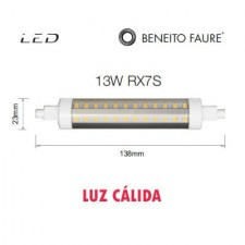Bombilla tubular Led 13W RX7S 138mm 4000k Beneito & Faure