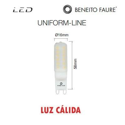 Bombilla G9 long LED uniform-line 2.8W 3000K