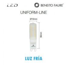 Bombilla G9 long LED uniform-line 2.8W 5000K