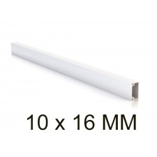 Canaleta blanca unex 78021-2 minicanal sin tabique 10x16mm