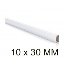 Canaleta blanca unex 78023-2 minicanal sin tabique 10x30mm