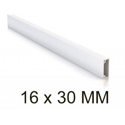 Canaleta blanca unex 78033-2 minicanal sin tabique 16x30mm