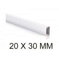 Canaleta blanca unex 78043-2 minicanal sin tabique 20x30mm