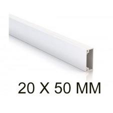 Canaleta blanca unex 78045-2 minicanal sin tabique 20x50mm