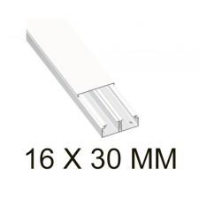 Canaleta blanca unex 78083-2 con tabique 16x30mm