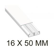 Canaleta blanca unex 78085-2 con tabique 16x50mm